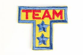 'Team' Embroidered Muti-coloured Sew-on Applique